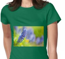 One blue Muscari Mill flower  Womens Fitted T-Shirt
