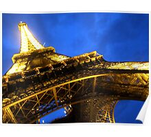 Eiffel Tower night shot Poster