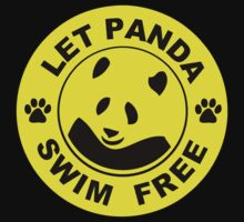 black gold panda - let panda swim free by benyuenkk