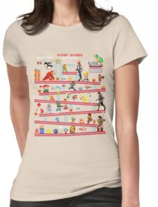 1980s Arcade Heroes Womens Fitted T-Shirt