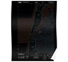 USGS Topo Map Oregon Winchester Bay 20110808 TM Inverted Poster