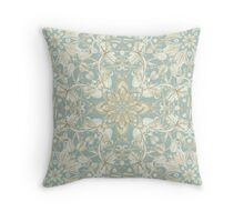 Soft Sage & Cream hand drawn floral pattern Throw Pillow
