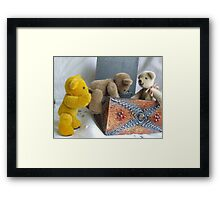 Nearly There, Shove Harder! Framed Print
