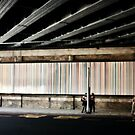 Waiting For the Bus - Stripey #1 by Matthew Floyd