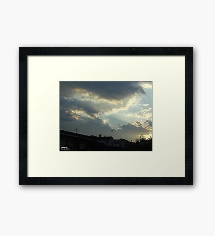 Dieing Storm  Framed Print