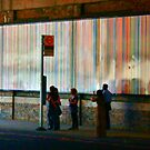 Waiting For the Bus - Stripey #3 by Matthew Floyd