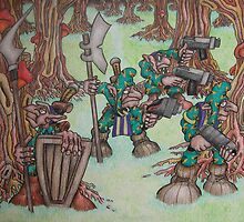 The camoflauge goblin search for enemies by woodrowsworld