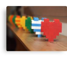 lego hearts Metal Print