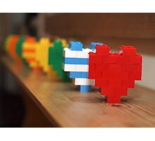 lego hearts Photographic Print