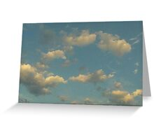 Fluffy Blue  Greeting Card