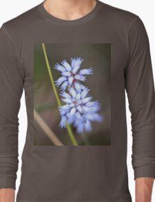 little blue fairy flowers Long Sleeve T-Shirt