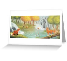 The four seasons Greeting Card