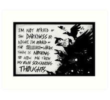 Screaming Thought- Dark Magic Art Print