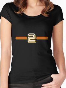 BBC2 Women's Fitted Scoop T-Shirt
