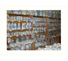 Ceramics shop Art Print