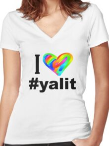 I HEART ALL #yalit! Women's Fitted V-Neck T-Shirt
