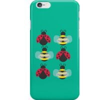 Ladybugs and bees iPhone Case/Skin
