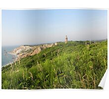 Lighthouse and Clay Cliffs - Martha's Vineyard Poster