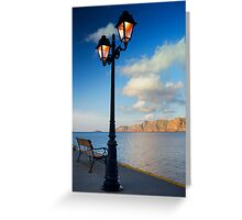 To meet the rising of the pier Greeting Card