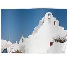 Blue Skies Of Mykonos Poster