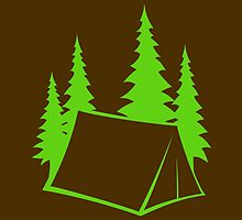 Camp Site - bright green by LudlumDesign