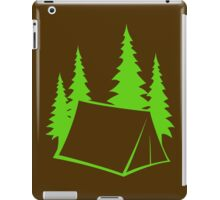 Camp Site - bright green iPad Case/Skin