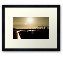 Over the Mersey Sunset Framed Print