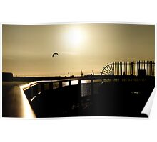 Over the Mersey Sunset Poster