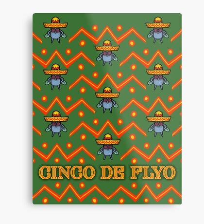 Cinco De Flyo Christmas Sweater Design Metal Print