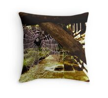 Spider House Throw Pillow
