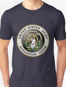 Acquisition Corps - A A C Branch Insignia over Blue Velvet T-Shirt