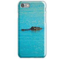 Watchful Alligator  iPhone Case/Skin