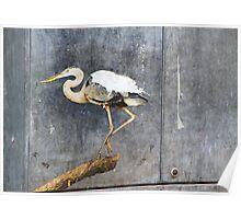 Heron Poster