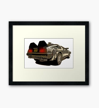 Back To The Future - Delorean Framed Print