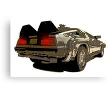 Back To The Future - Delorean Canvas Print