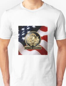 Acquisition Corps - A A C Regimental Insignia U. S. Flag  T-Shirt