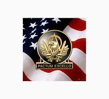 Acquisition Corps - A A C Regimental Insignia U. S. Flag  Unisex T-Shirt