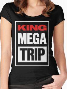 King Megatrip VSW logo (dark shirt version) Women's Fitted Scoop T-Shirt