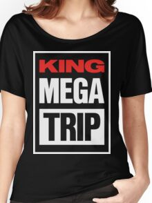 King Megatrip VSW logo (dark shirt version) Women's Relaxed Fit T-Shirt