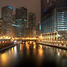 Chicago Riverwalk by Eddie Yerkish