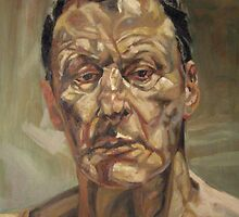my reproduction. Lucian Freud. rip. by Natasa Ristic