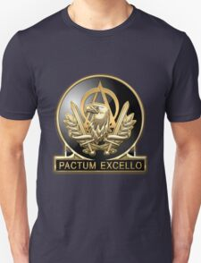 Acquisition Corps - A A C Regimental Insignia over Blue Velvet T-Shirt