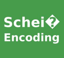 Schei� Encoding - Programmer Humor Printed in a White Font Baby Tee