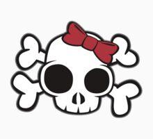 Skull & Crossbones Bow behind One Piece - Short Sleeve