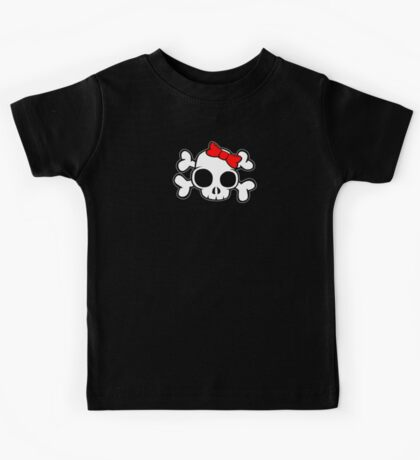 Skull & Crossbones Bow behind Kids Tee
