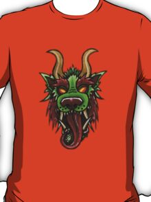 Lion/Dragon Foo Face With Cucumber Roll T-Shirt