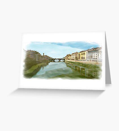 Arno Panorama Greeting Card