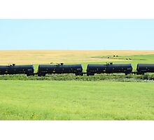Rail Car on the Prairies Photographic Print