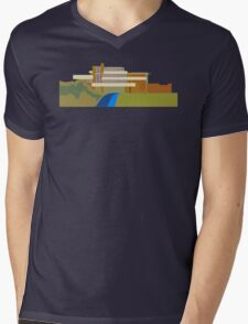 fallingwater Mens V-Neck T-Shirt