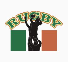 rugby player line-out Ireland flag Kids Clothes